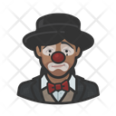 African Sad Clown Sad Woman Icon