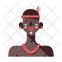 African Tribe Male Icon