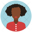 African American Woman Icon
