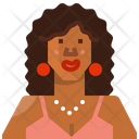 Avatar African Woman Icon