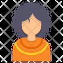 Afro Woman Hair Icon