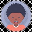 Afro Boy Child Icon