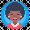 Afro Female Person Icon