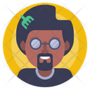 Afro Avatar Male Icon