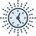 Afternoon Time Clock Icon