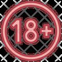 Age Limit 18 Plus Requirement Icon