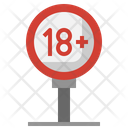 Age Limit Addiction No Smoking Icon