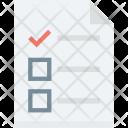 Agenda Checklist Memo Icon
