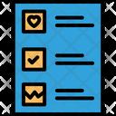 Agenda List Checklist List Icon