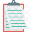 Agenda Clipboard Document Icon