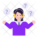 Customer Services Confuse Agent Agent Queries Icon