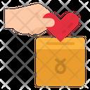 Charity Money Heart Icon
