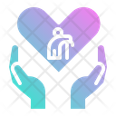 Charity Old Man Icon