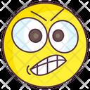 Aggressive Emoji Aggressive Expression Emotag Icon