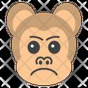 Aggressive Monkey Face Icon