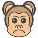 Aggressive Monkey Face Icon