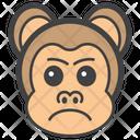 Aggressive Monkey Face Monkey Head Emoji Icon
