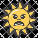 Aggressive Sun Emoji Emoticon Icon