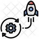 Agile Startup Rocket Icon