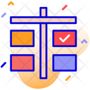 Agile Board Scrum Icon