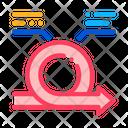Round Agile Arrow Icon