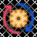 Gear Arrows Around Icon