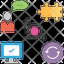 Agile Manifesto Conversation Problem Solving Icon