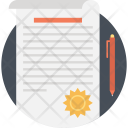 Contract Sheet Paper Icon