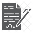 Contract Agreement Signature Icon