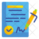 Agreement Contract Patent Icon