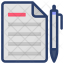Agreement Writing Tool Contract Icon