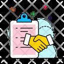 Business Agreement Businessman Handshake Partner Handshake Icon