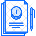 Agreement Contact Pen Icon