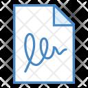 Agreement Document Contract Icon