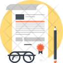Agreement Business Certificate Icon
