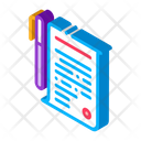Pen Agreement Business Icon