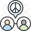 Agreement Peace People Icon