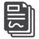 Agreement Documents Paper Icon