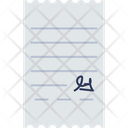 Paper Agreement Signature Icon