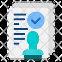 Agreement Document Agreement Document Icon