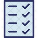 Daily Sheet Mark Sheet Paper Icon