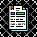 Protocol Document Trade Icon