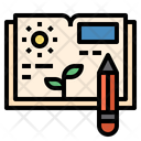 Agriculture Book Gardening Icon