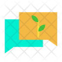 Agriculture Chat Eco Friendly Icon