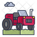 Agriculture Farm Car Tracker Icon