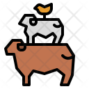 Agriculture Chicken Cow Icon
