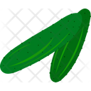 Agriculture Green Cucumber Icon