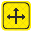 Ahead Intersection Road Icon