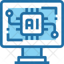 Artificial Intelligence Laptop Icon