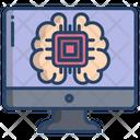 Ai Brain Chip Ai Chip Artificial Intelligence Chip Icon
